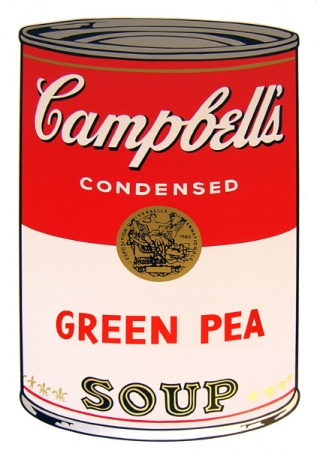 Warhols Sunday B.Morning Edition - Campbell`s Soup - Green Pea