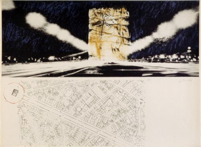 Christo - Arc de Triomphe, Paris (1970)
