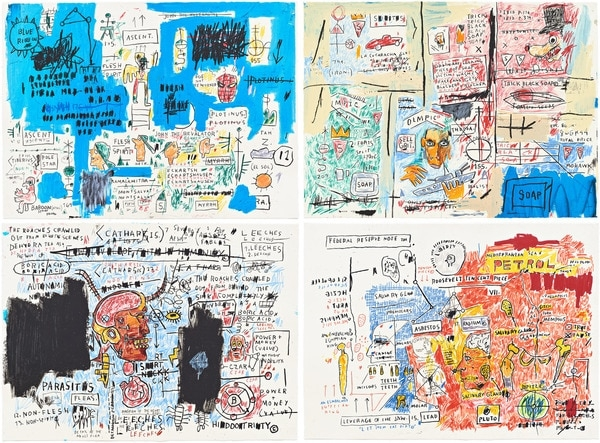Basquiat, Jean-Michel - Ascent, Olympic, Leeches, Liberty 2017- 4er Set